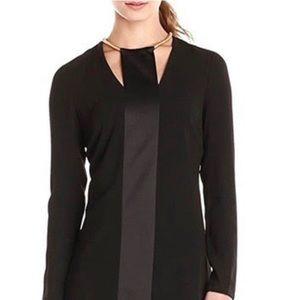 HALSTON HERITAGE Black Long Sleeve Dress